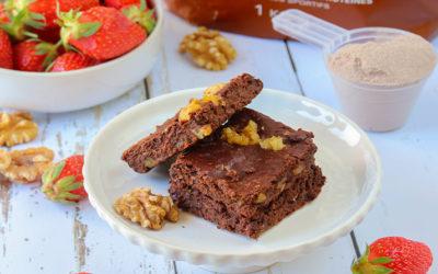 Brownie protéiné à la whey protein chocolat Inshape Nutrition