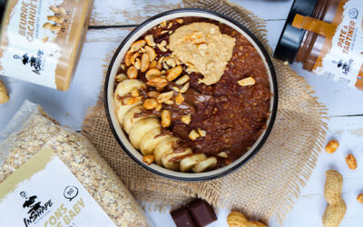 Porridge facile & gourmand chocolat-cacahuètes