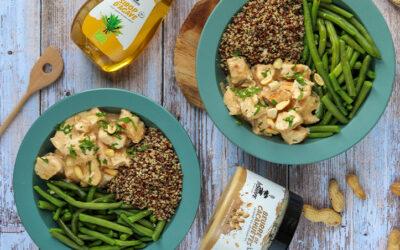 Poulet sauce au beurre de cacahuètes Inshape Nutrition